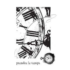 Katzelkraft - Clock A6 - Rubber stamp - French Style