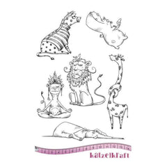 Katzelkraft - Jungle - Rubber stamp - French Style