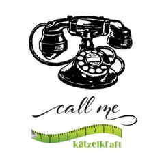 Katzelkraft - Rubber stamp Call Me
