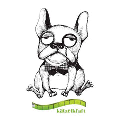 Katzelkraft - Rubber stamp dog Holmy - French style