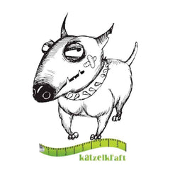Katzelkraft - Rubber stamp dog Voody - French style