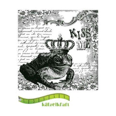 Katzelkraft - Rubber stamp Kiss Me - French style