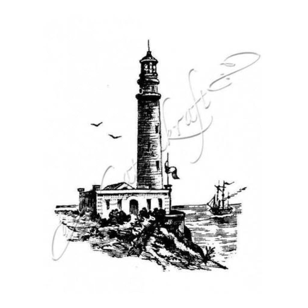 Katzelkraft - Rubber stamp Lighthouse - French style