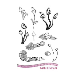 Katzelkraft - Rubber stamp - Whimsy flowers
