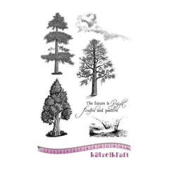 Katzelkraft Unmounted Rubber Stamp -  Fruitful A5
