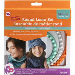 Knitting Board Chunky Round Loom 3 pack Sizes 48, 36 & 24 Pegs