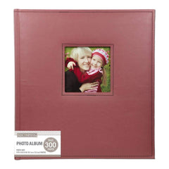 K&Company 5 Up Faux Leather Photo Album 12X13 Burgundy