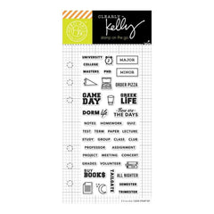 Kelly Purkey Clear Stamps 2.5 inch X6 inch College Life Planner