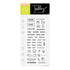 Kelly Purkey Clear Stamps 2.5 inch X6 inch Garden Planner