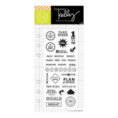 Kelly Purkey Clear Stamps 2.5 inch X6 inch Goal Planner