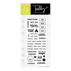 Kelly Purkey Clear Stamps 2.5 inch X6 inch Time Planner
