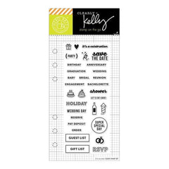 Kelly Purkey Clear Stamps 2.5X6in - Occasion Planner
