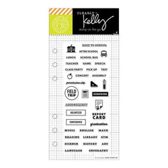 Kelly Purkey Clear Stamps 2.5X6in - School Planner