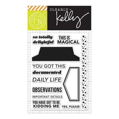 Kelly Purkey Clear Stamps 3 Inch X4 Inch Daily Life