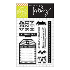 Kelly Purkey Clear Stamps 3 Inch X4 Inch Destination