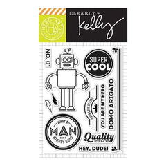 Kelly Purkey Clear Stamps 3 Inch X4 Inch  Super Cool