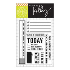 Kelly Purkey Clear Stamps 3 Inch X4 Inch  Take Note