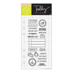 Kelly Purkey Clear Stamps 4 inch X6 inch Fall Planner