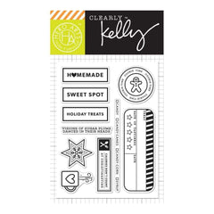 Kelly Purkey Clear Stamps 4 inch X6 inch Holiday Treats