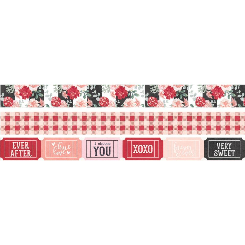 Simple Stories Kissing Booth Washi Tape 3 pack