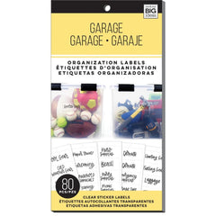 Me And My Big Ideas Storage Labels - Garage, 80 pack