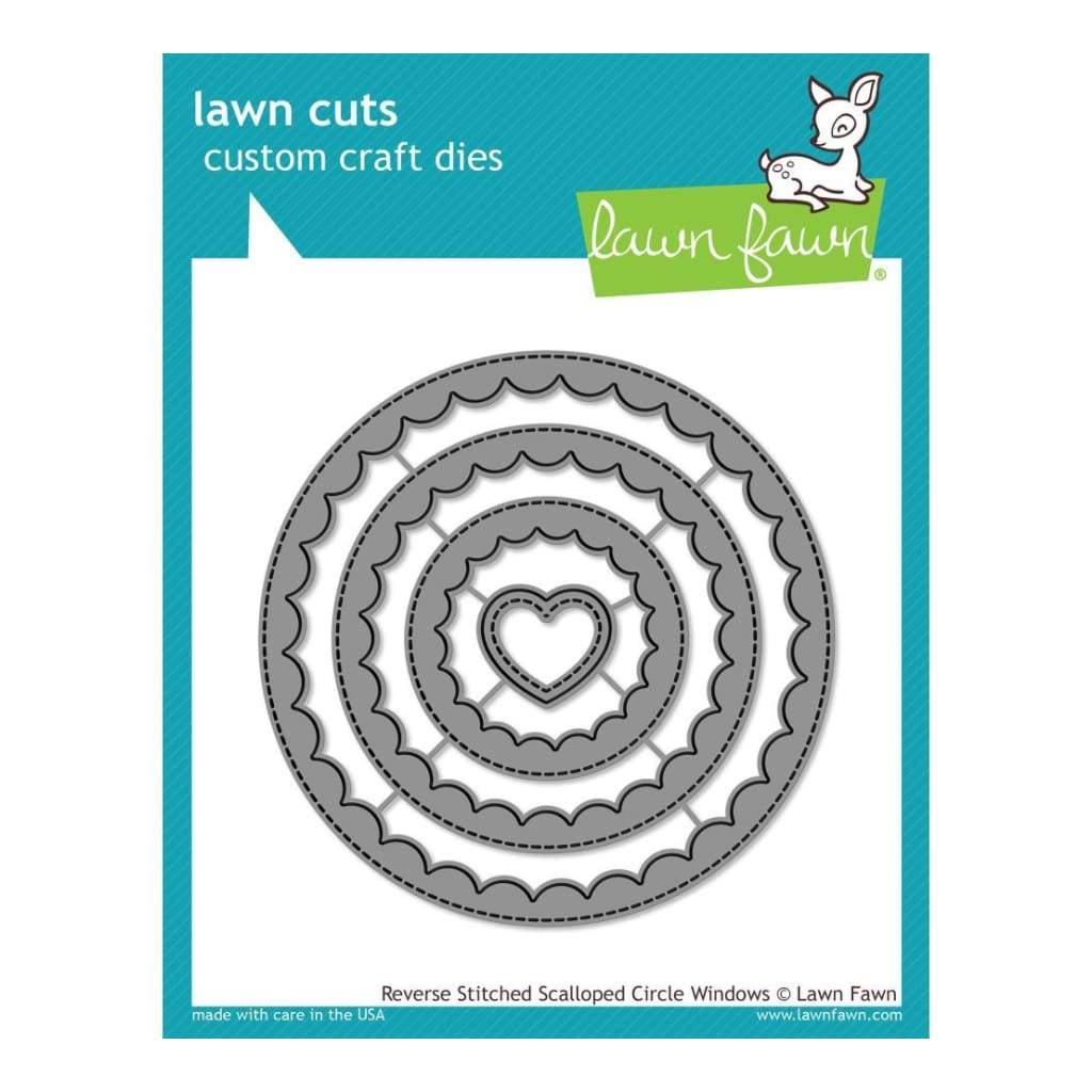 Lawn Cuts Custom Craft Die Reverse Stitched Scalloped Circle Window