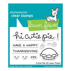 Lawn Fawn Clear Stamps 3 inch X2 inch  Cutie Pie