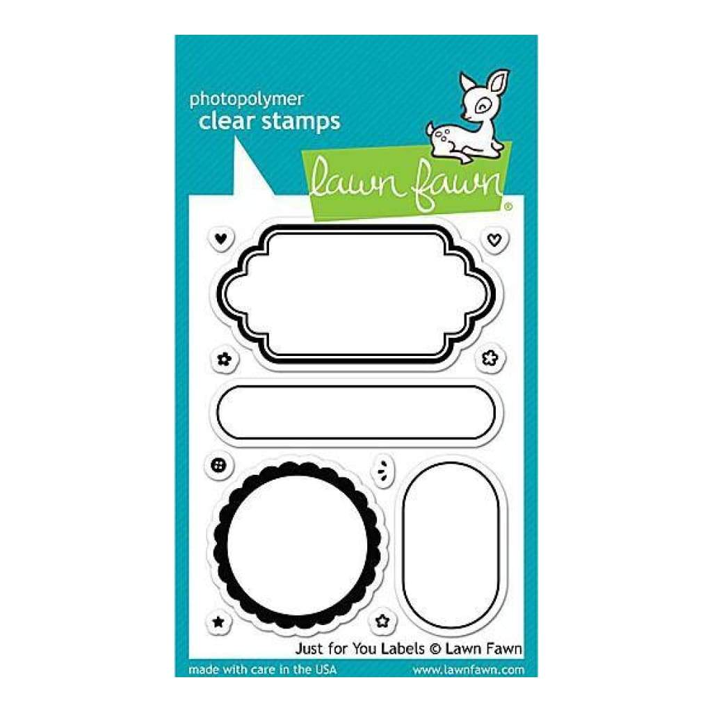 Lawn Fawn Clear Stamps 3 Inch X4 Inch  Just For You Labels