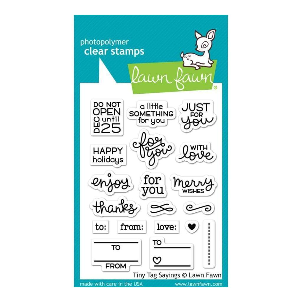 Lawn Fawn Clear Stamps 3 inch X4 inch Tiny Tag Sayings