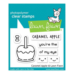 Lawn Fawn Clear Stamps 3inch X2inch Caramel Apple