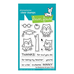 Lawn Fawn Clear Stamps 3inch X4inch So Owlsome