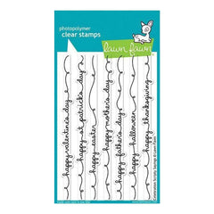 Lawn Fawn Clear Stamps 4 Inch X6 Inch  Celebration Scripty Sayings