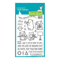 Lawn Fawn Clear Stamps 4 inch X6 inch Critter Concert