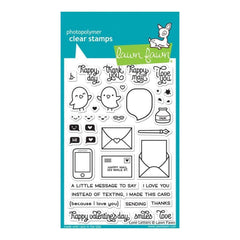 Lawn Fawn Clear Stamps 4 inch X6 inch Love Letters