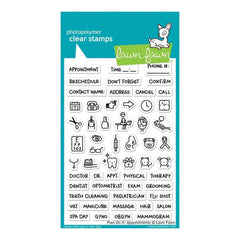 Lawn Fawn Clear Stamps 4 inch X6 inch Plan On It: Appointments