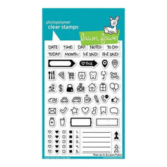 Lawn Fawn Clear Stamps 4 Inch X6 Inch Plan On It