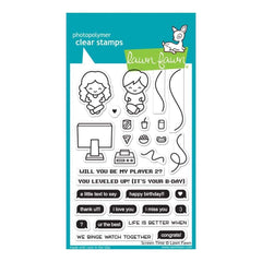Lawn Fawn Clear Stamps 4 inch X6 inch Screen Time