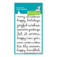 Lawn Fawn Clear Stamps 4inch X6inch Winter Scripty Sentiments