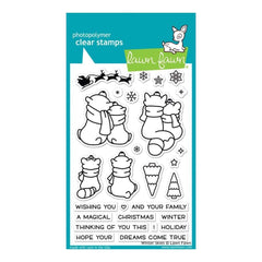 Lawn Fawn Clear Stamps 4inch X6inch Winter Skies
