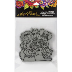 Stampendous Laurel Burch Cling Stamp - Canine Clan