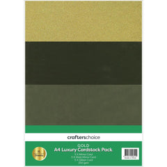 Fynmark - Crafters Christmas Luxury Cardstock Pack A4 15 pack Gold