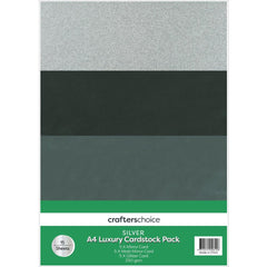 Fynmark - Crafters Christmas Luxury Cardstock Pack A4 15 pack Silver