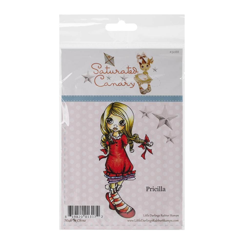 Saturated Canary Cling Stamp 4 X 7 inch Pricilla