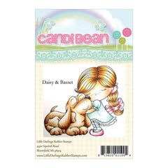 Candibean Unmounted Rubber Stamp 4 X 6inch - Daisy & Basset