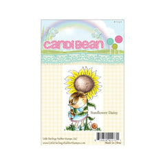 CandiBean Cling Stamp 4 X 7 inch - Sunflower Daisy