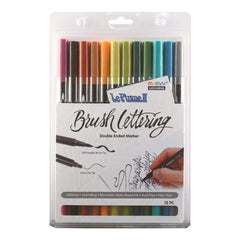 Le Plume II Double-Ended Brush Lettering Marker Set 12 pack Natural