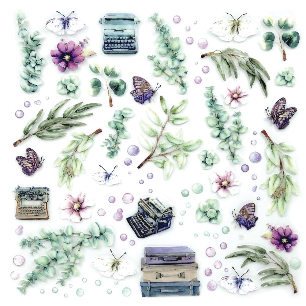 49 And Market Layered Embellishments 12in x 12in - Eucalyptus