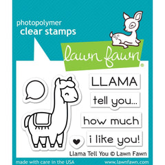 Lawn Fawn Clear Stamps 3 inch X2 inch Llama Tell You
