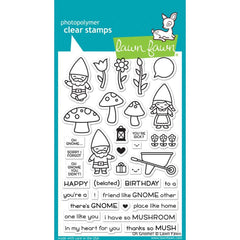 Lawn Fawn Clear Stamps 4 inch X6 inch Oh Gnome!