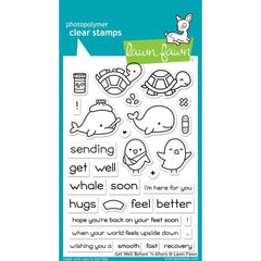 Lawn Fawn Clear Stamps 4 inch X6 inch Get Well Before n Afters